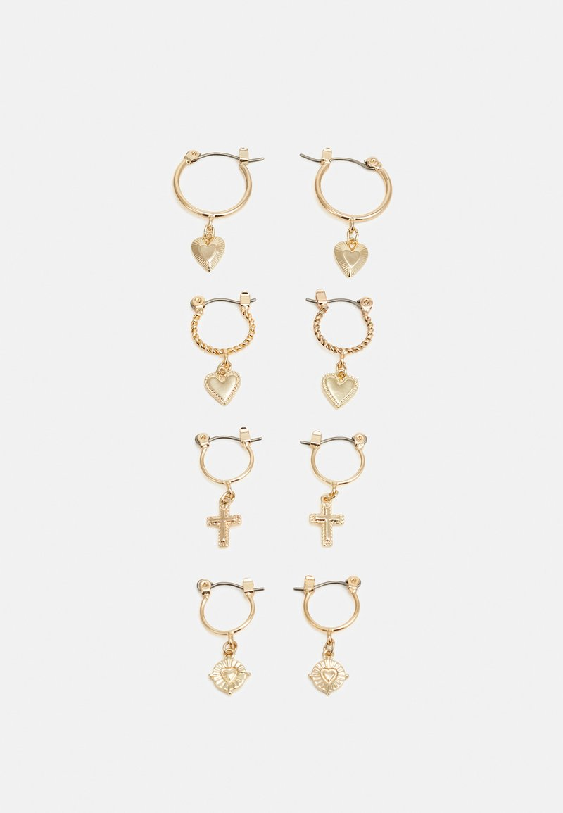 Pieces - PCLOVELI EARRINGS 4 PACK - Oorbellen - gold coloured