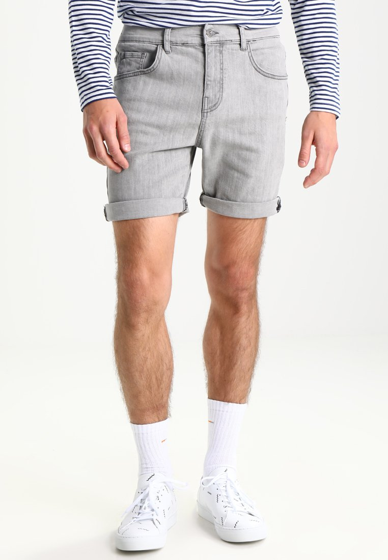 YOURTURN - Denim shorts - grey
