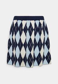 Monki - YANNI - A-linjainen hame - blue/off-white - 0
