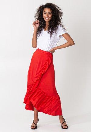JULINA - Wrap skirt - red