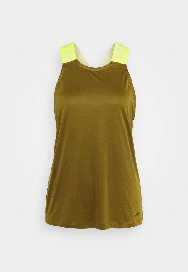 DRY ELASTIKA TANK - T-shirt sportiva - olive flak/volt