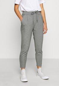 Vero Moda Petite - VMEVA LOOSE STRING PANTS - Bukse - medium grey melange - 0