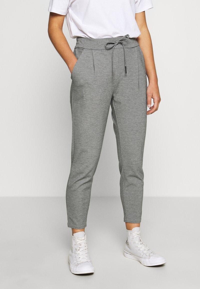 Vero Moda Petite - VMEVA LOOSE STRING PANTS - Bukse - medium grey melange