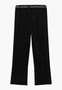 Calvin Klein Jeans - LOGO WAISTBAND - Trousers - black - 1