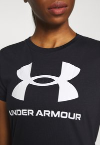 Under Armour - LIVE SPORTSTYLE GRAPHIC - T-shirt print - black - 5