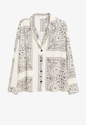 BANDANA - Button-down blouse - cremeweiß