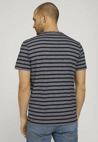 TOM TAILOR - Camiseta estampada - blue white stripe - 2