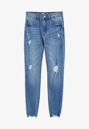 MIT HALBHOHEM BUND UND RISSEN  - Jeans Skinny Fit - blue