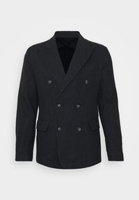 Frescobol Carioca - COOTON DECONSTRUCTED BLAZER - Blazer jacket - dark navy - 5