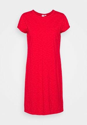 TEE DRESS - Jersey dress - pure red