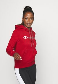 Champion - ESSENTIAL HOODED LEGACY - Mikina skapucí - dark red - 0