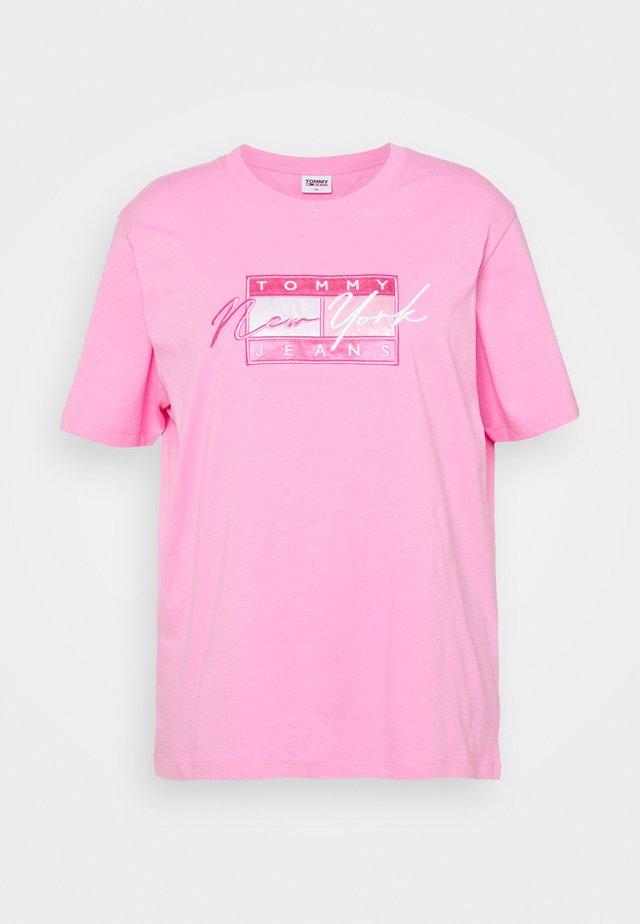 FLAG TEE - T-shirt print - pink daisy
