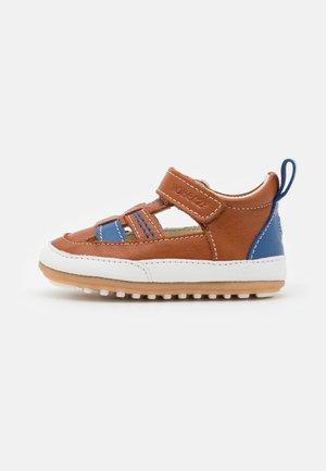 MINIZ - První boty - beige/fonce bleu