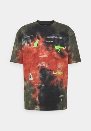 PENTAGRAM PIZZA - Print T-shirt - black