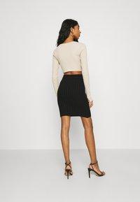 WAL G. - ZARRAH LOUNGE SKIRT - Mini skirt - black - 2