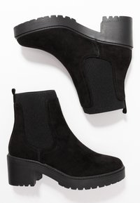 Dorothy Perkins - ALYSSA CHUNKY PULL ON CHELSEA BOOT - Platform ankle boots - black - 3