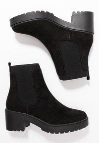 Dorothy Perkins - ALYSSA CHUNKY PULL ON CHELSEA BOOT - Platåstøvletter - black - 3