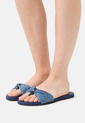 YOU TROPEZ SHINE - T-bar sandals - navy blue