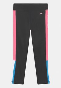 Reebok - SIDE STRIPE CAPRI - Leggings - Trousers - black - 0