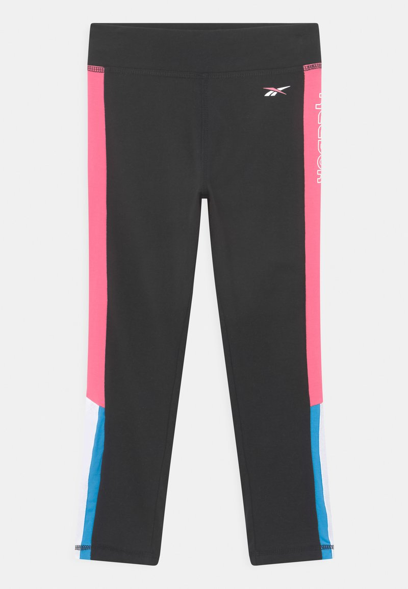 Reebok - SIDE STRIPE CAPRI - Leggings - Trousers - black