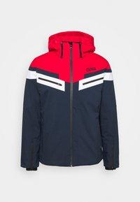 Ski jacket - blue/black/bright red
