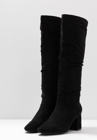Lost Ink Wide Fit - WIDE FIT SLOUCHY KNEE HIGH BOOT - Kozaki - black - 4