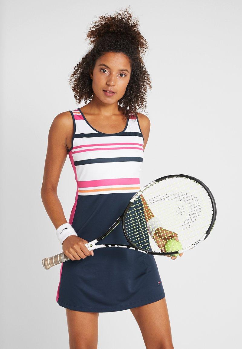 Fila - DRESS AUDREY - Sportovní šaty - peacoat blue/fuchsia purple