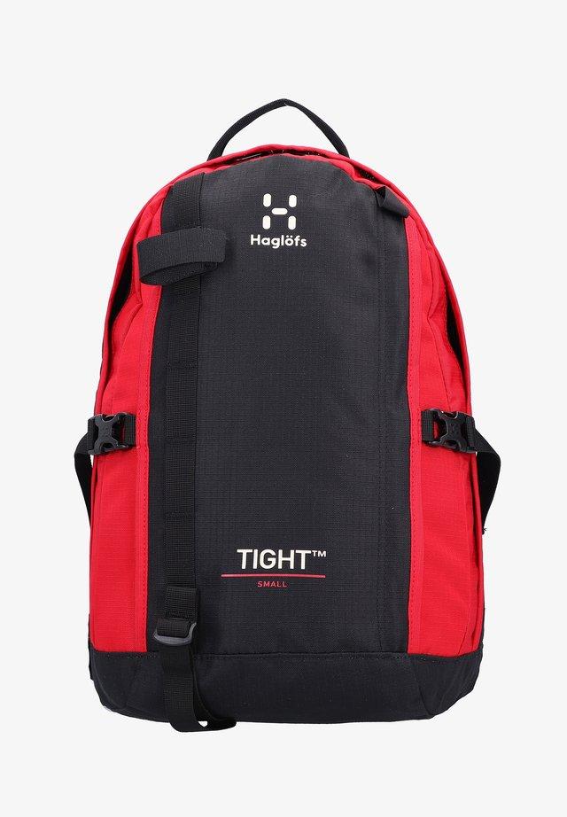 TIGHT SMALL - Rucksack - true black/scarlet red