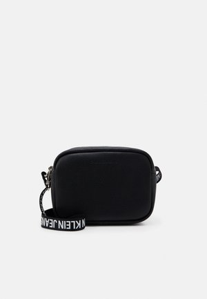 DOUBLE ZIP CAMERA BAG - Olkalaukku - black