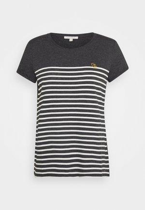 Print T-shirt - shale grey melange