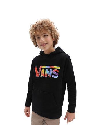 BY VANS CLASSIC PO II BOYS - Felpa con cappuccio - black/spiral tie dye