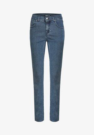 CICI' MIT DEZENTER WASCHUNG - Straight leg jeans - stone-blue denim