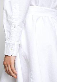 Polo Ralph Lauren - LONG SLEEVE CASUAL DRESS - Skjortekjole - white - 3