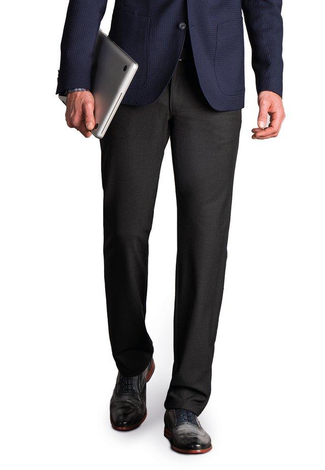 CERAMICA - Suit trousers - anthrazit