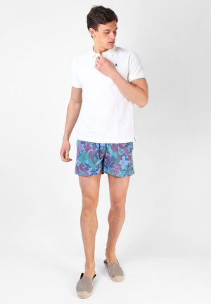FLOWERS - Badeshorts - blue