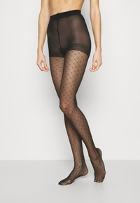 Pour Moi - CHARM LUXE 15 DENIER DIAMOND TIGHTS 2 PACK - Tights - black - 0