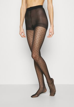 CHARM LUXE 15 DENIER DIAMOND TIGHTS 2 PACK - Collants - black