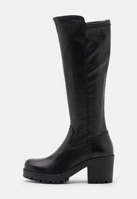 Tamaris - BOOTS - Platåstøvler - black - 1
