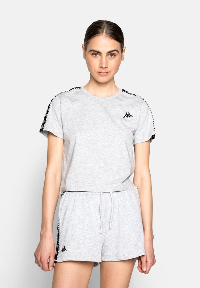 INULA - T-shirt con stampa - grey melange