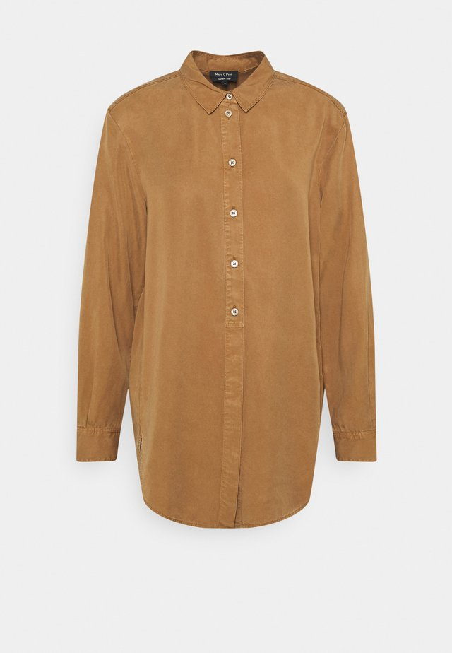 BLOUSE LONG SLEEVE - Shirt dress - desert camel