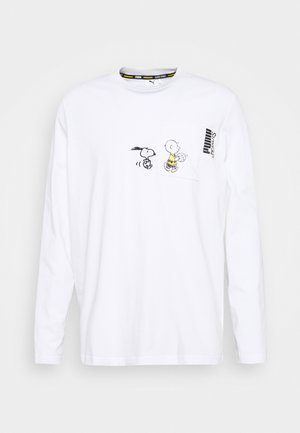 PEANUTS SNOPPY TEE - Long sleeved top - white