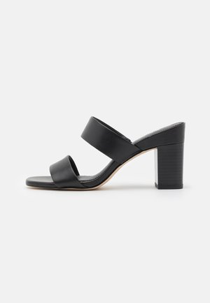 GLENDA SLIDE - Heeled mules - black