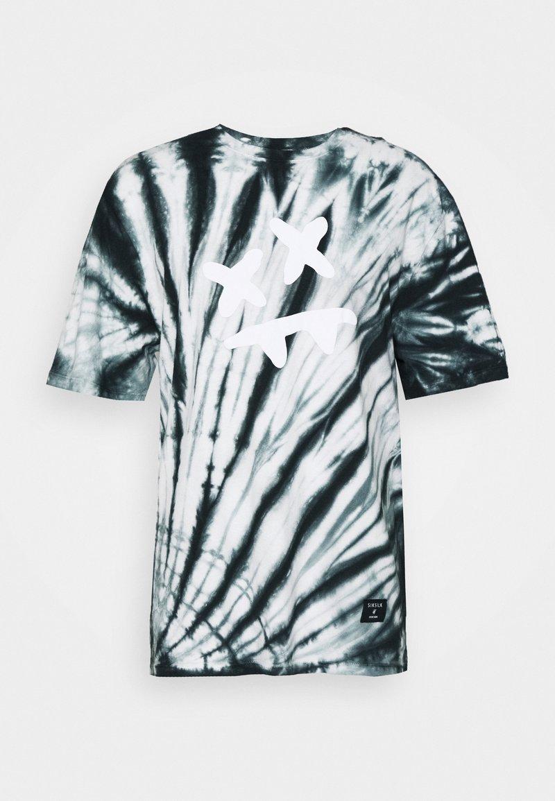 SIKSILK STEVE AOKI ESSENTIAL TEE - T-Shirt print - baby pink/blue/pink JB6g4i