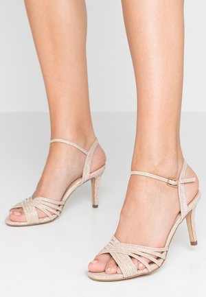 HARSHA - Sandály na vysokém podpatku - champagne
