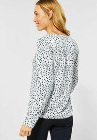 Cecil - MIT PUNKTEN - Long sleeved top - weiß - 1