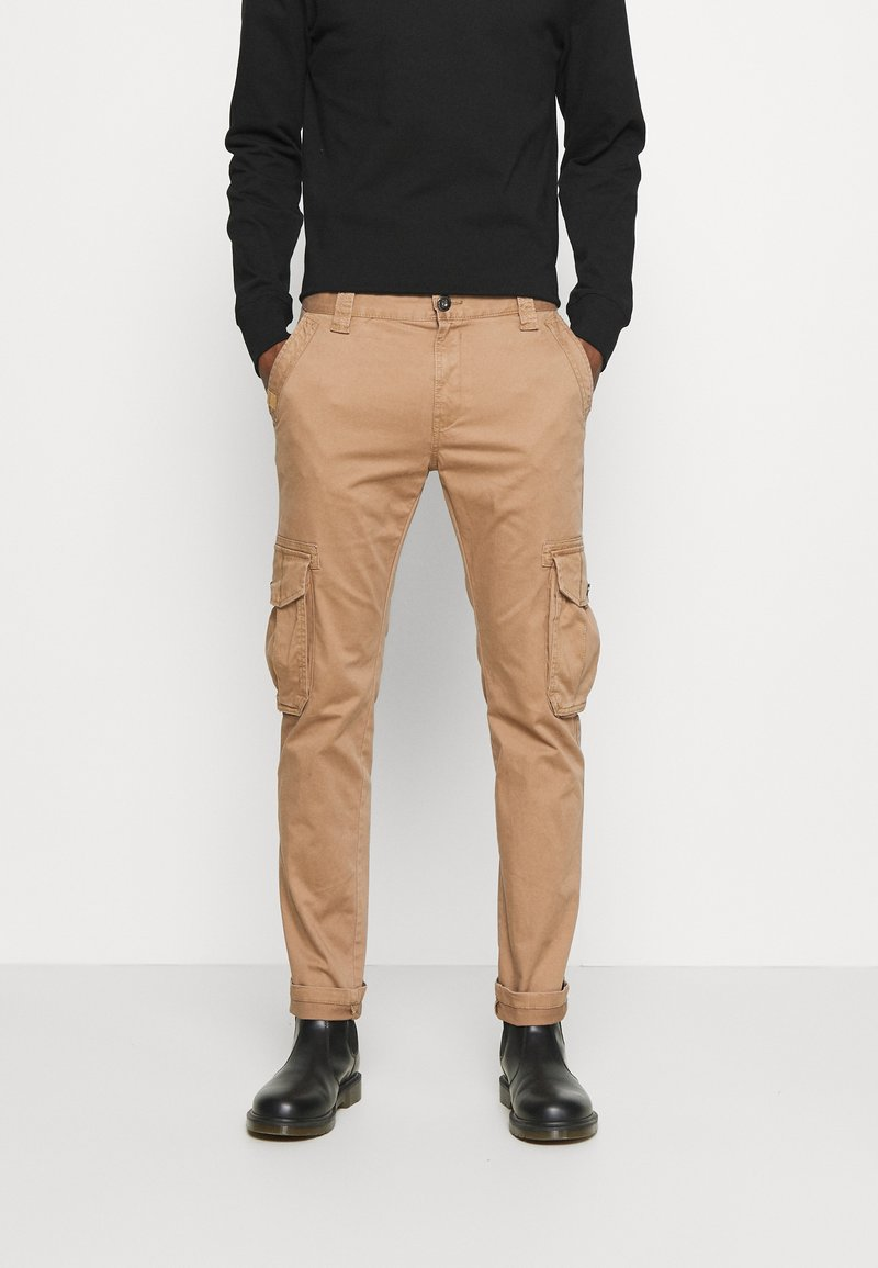 TOM TAILOR - Cargo trousers - dusty caramel brown