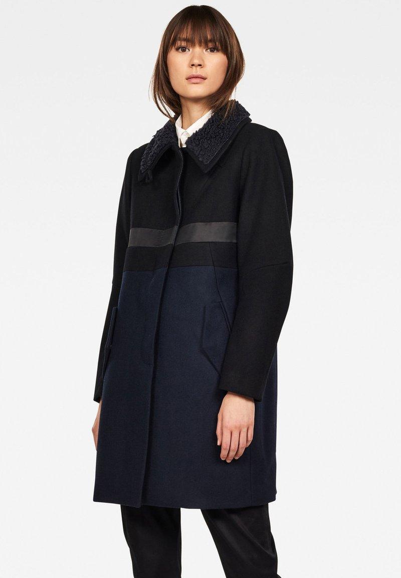 G-Star - EMPRAL SLIM CB PALETOT - Krátký kabát - black/blue