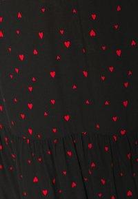 Dorothy Perkins - HEART PRINT SMOCK MINI DRESS - Day dress - black - 5