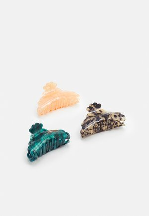 ONLHANNAH HAIR CLIP 3 PACK - Hair Styling Accessory - dusty rose/blue spruce/cognac