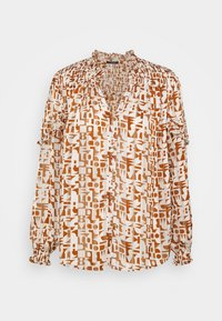 Scotch & Soda - SHEER SHIRT WITH ALL OVER PRINT - Button-down blouse - beige - 0